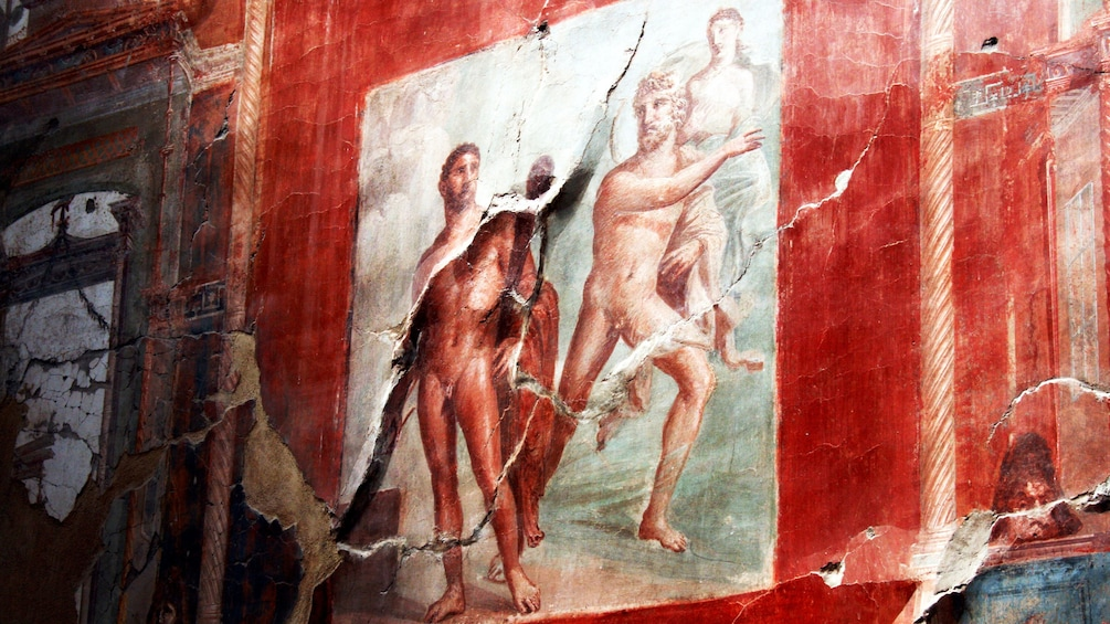 Show item 1 of 15. Ancient mural in the city of Pompeii.
