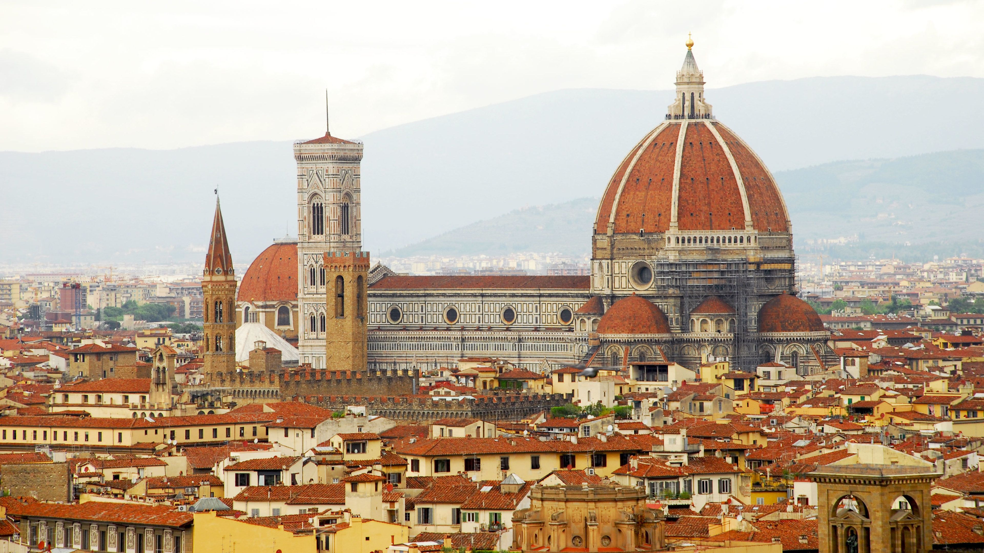 Panoramic view of the Piazzale Michelangelo in Florence