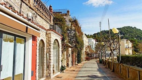 Street of coastal village in Italy