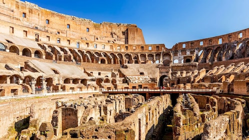 Landscape photo featuring the Arena inside the Colosseum.