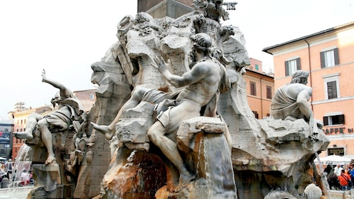 Close up of statue in Rome Italy