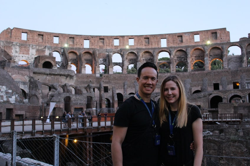 Colosseum by Night with Arena Access & Underground Tour