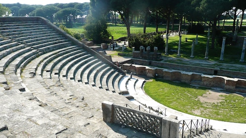 Interior of the theatre at Ostia in Italy