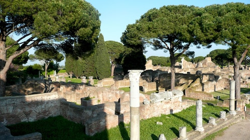 View of Ostia antica in Italy