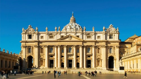 Exterior landscape view of St Peter's Basilica in the Vatican City in Rome Italy
