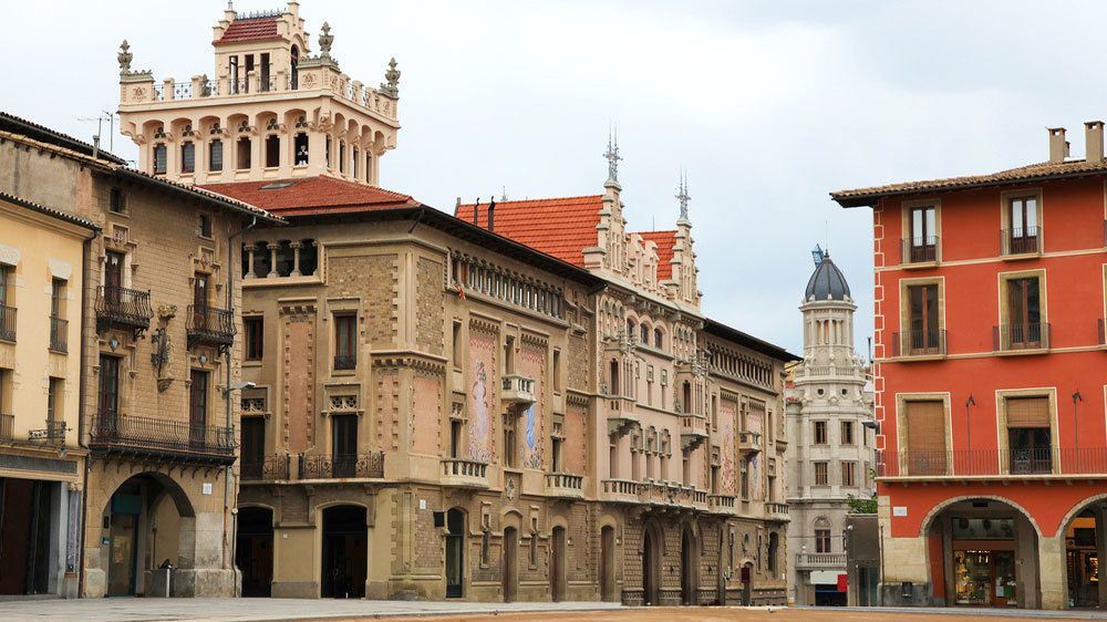 Buildings in Plaza Mayor, Madrid