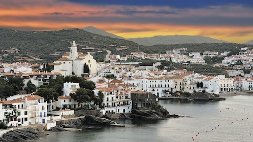 View of old town Cadaques Costa Brava, Catalonia in Barcelona