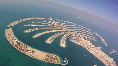 Palm tree shaped island in Dubai