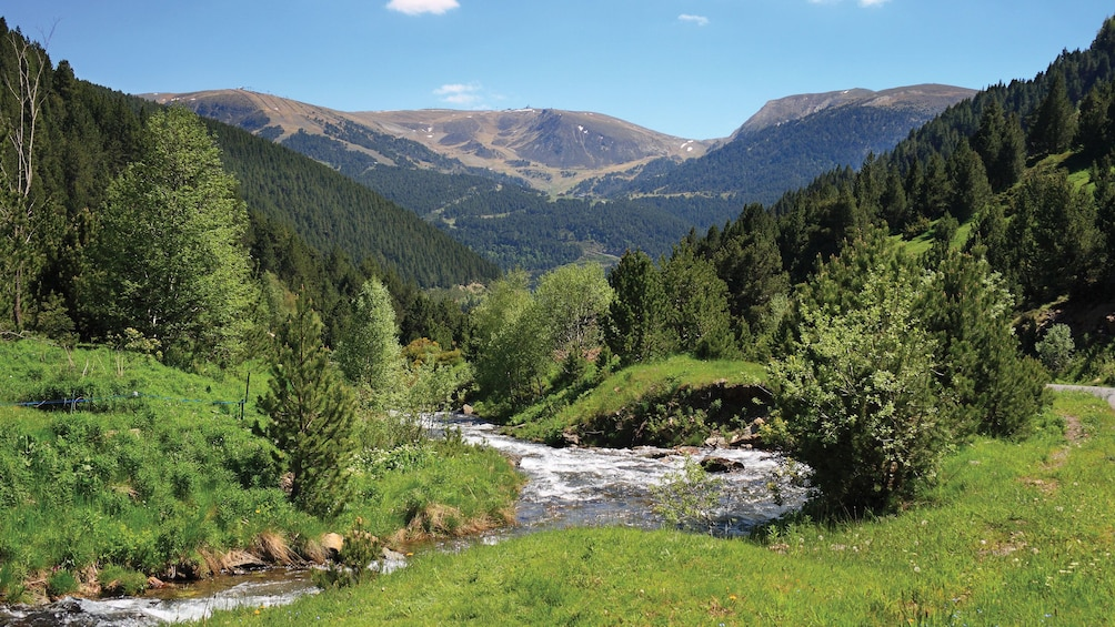 Apri foto 1 di 5. river and mountains in Catalan principality of Andorra, Spain