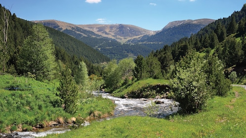 river and mountains in Catalan principality of Andorra, Spain