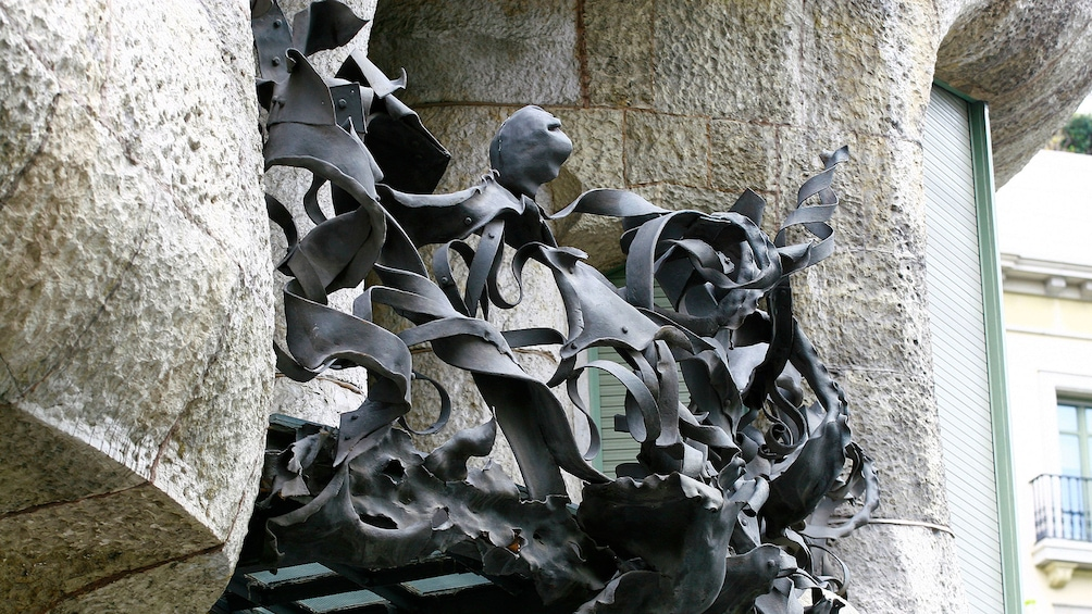 Show item 3 of 5. warped iron work at casa Mila in Barcelona