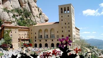 Tickets voor toegang tot het klooster van Montserrat met vervoerspas en lun...