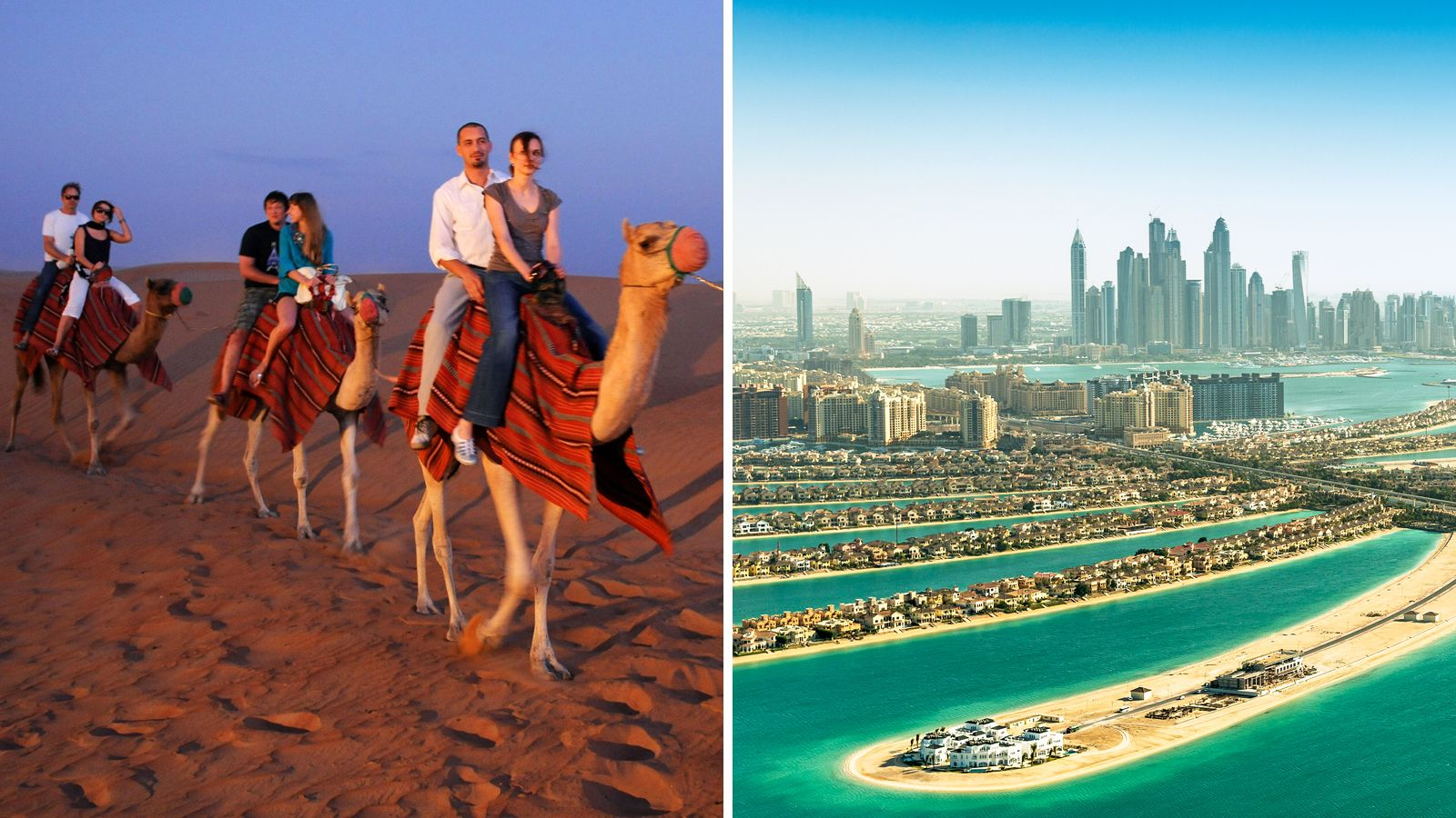 Combo images of activities in Dubai