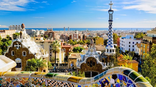 Park Guell in Barcelona Spain
