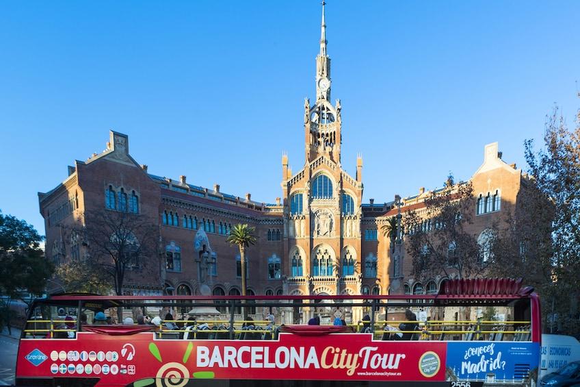 Barcelona city tour on an open air tour bus