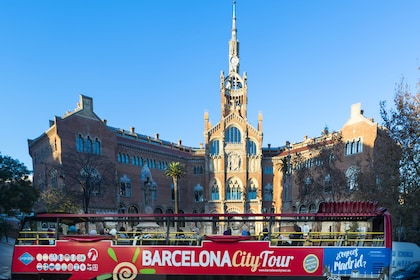 Barcelona city tour on an open air tour bus