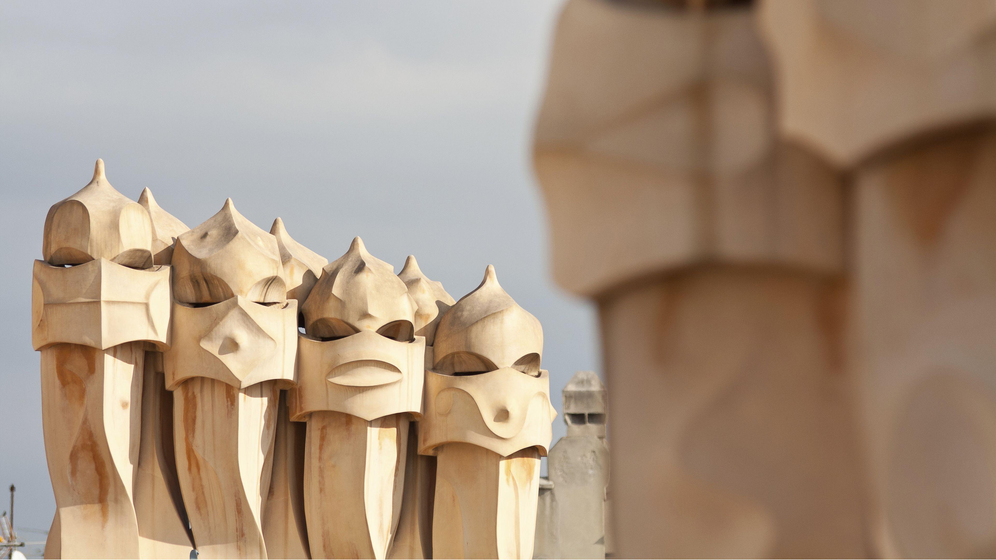 sculpture detail at Casa Mila in Barcelona