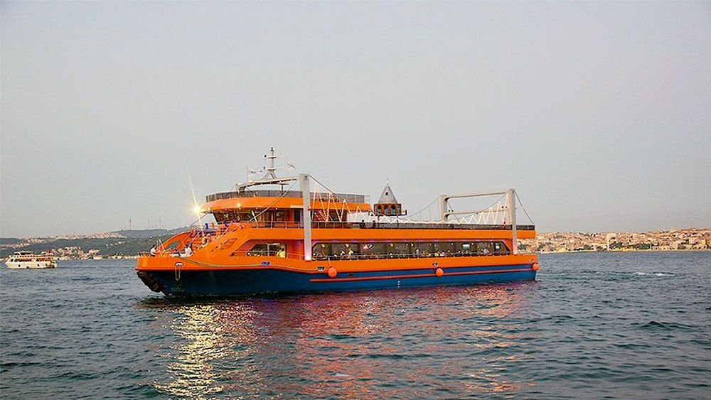 Bosphourus boat on a cruise in Turkey