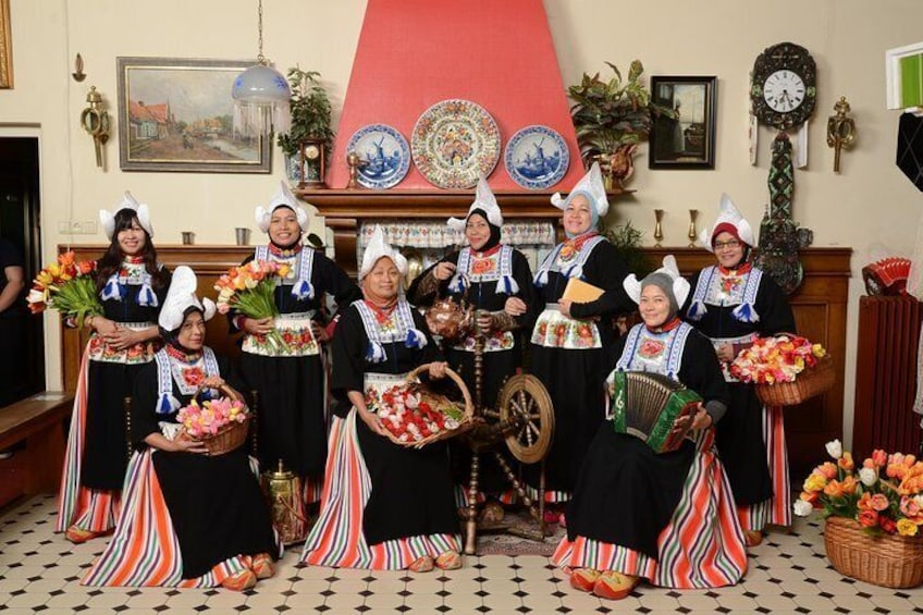 Traditional Dutch costumes.