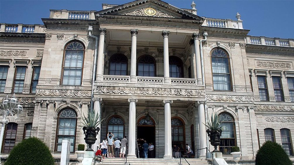 Closer view of the Dolmabahçe Palace in Istanbul