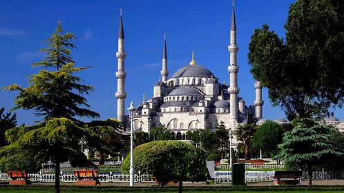 Landscape view of the Blue Mosque in Istanbul