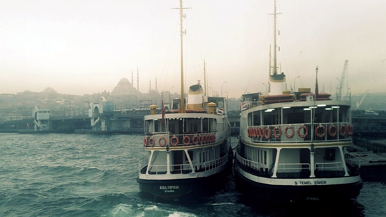 Two boats on the water in Istanbul