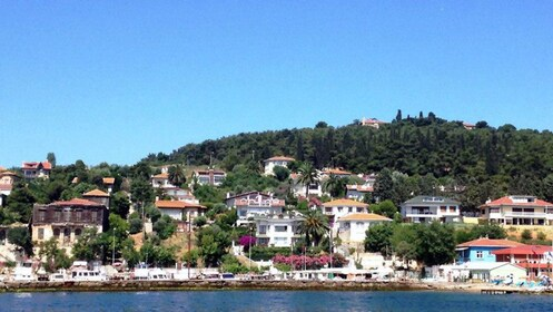 Boats and houses on the water in Istanbul