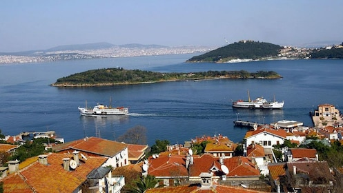 The Prince Islands or Kizil Islands in the Sea of Marmara in Istanbul