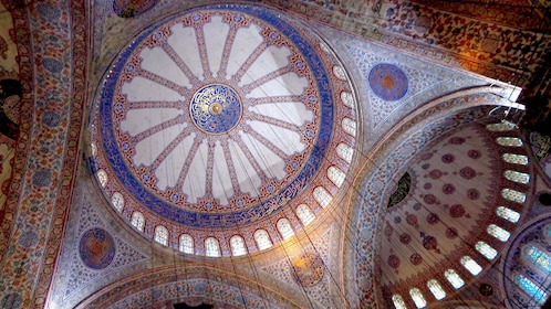 A dome inside the Blue Mosque in Istanbul