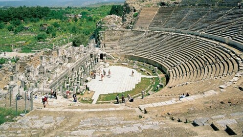 Above view of Ephesus Grand Theatre in Turkey