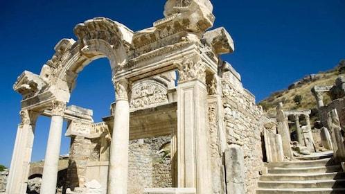 View of the Temple of Hadrian Ephesus