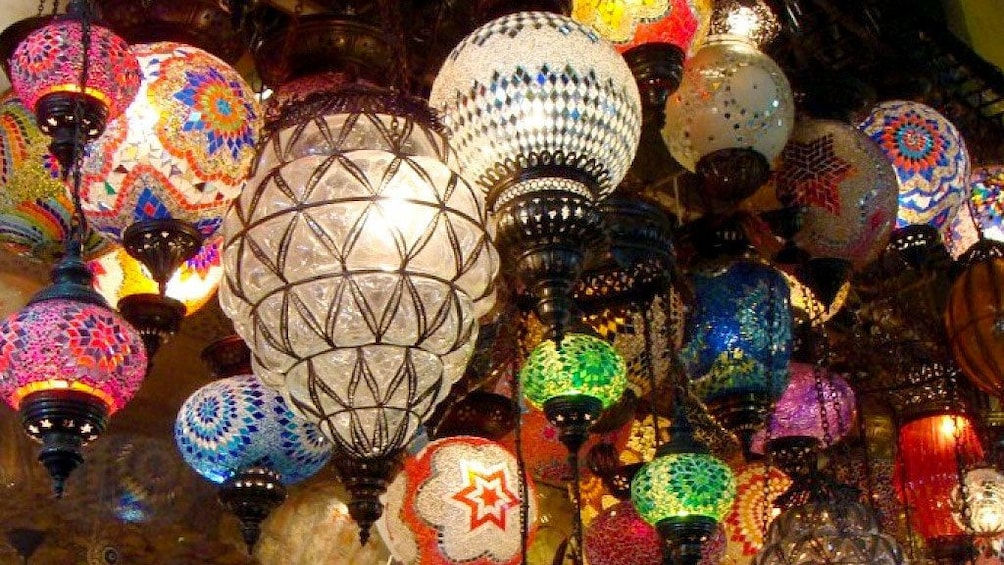 Show item 2 of 5. Lamps on display in Istanbul