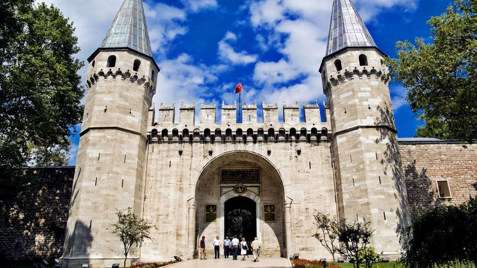 Exterior view of the Topkapi Palace in Istanbul