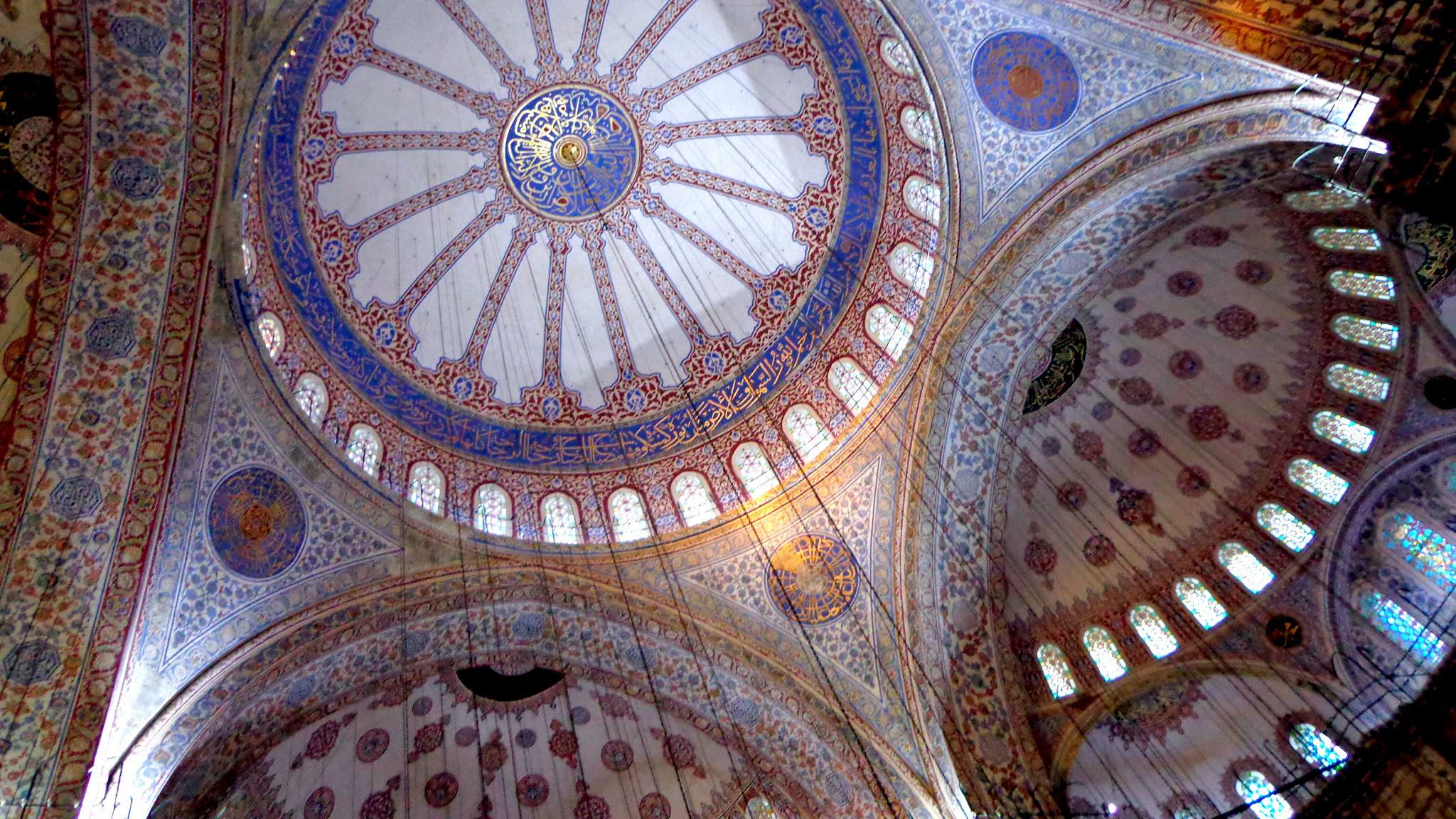 Dome inside the Blue Mosque in Istanbul