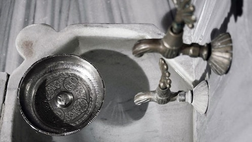 Faucets at the Cemberlitas Hamam in Istanbul