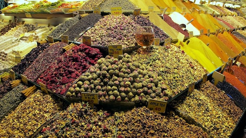 Spices on display at the Grand Bazaar in Istanbul