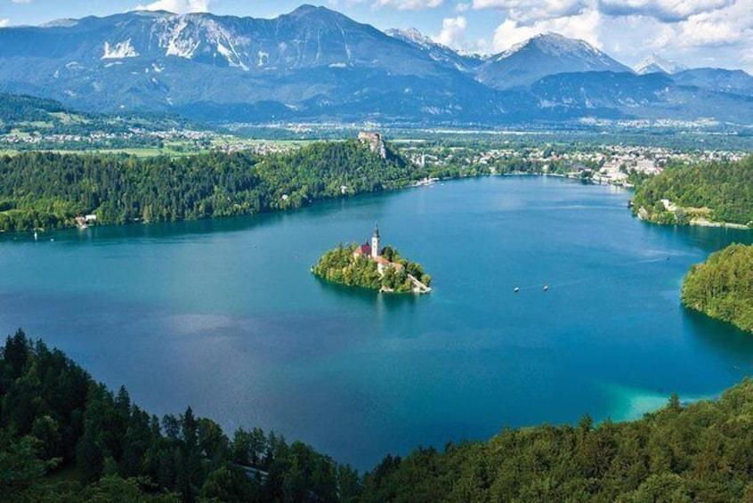 Lake Bled & Ljubljana Tour from Porec