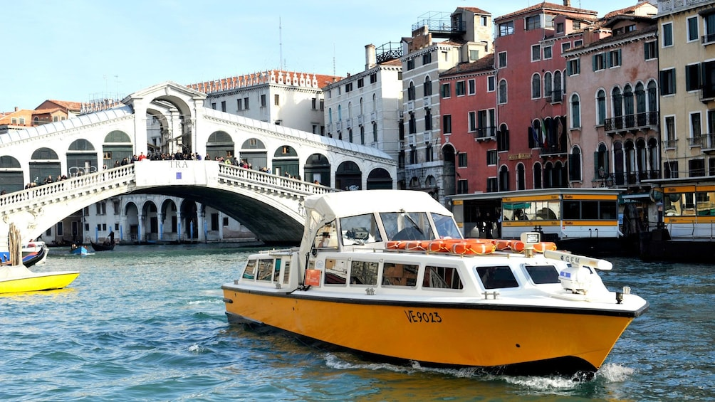 Show item 8 of 8. Tour boat on the water near Venice Italy