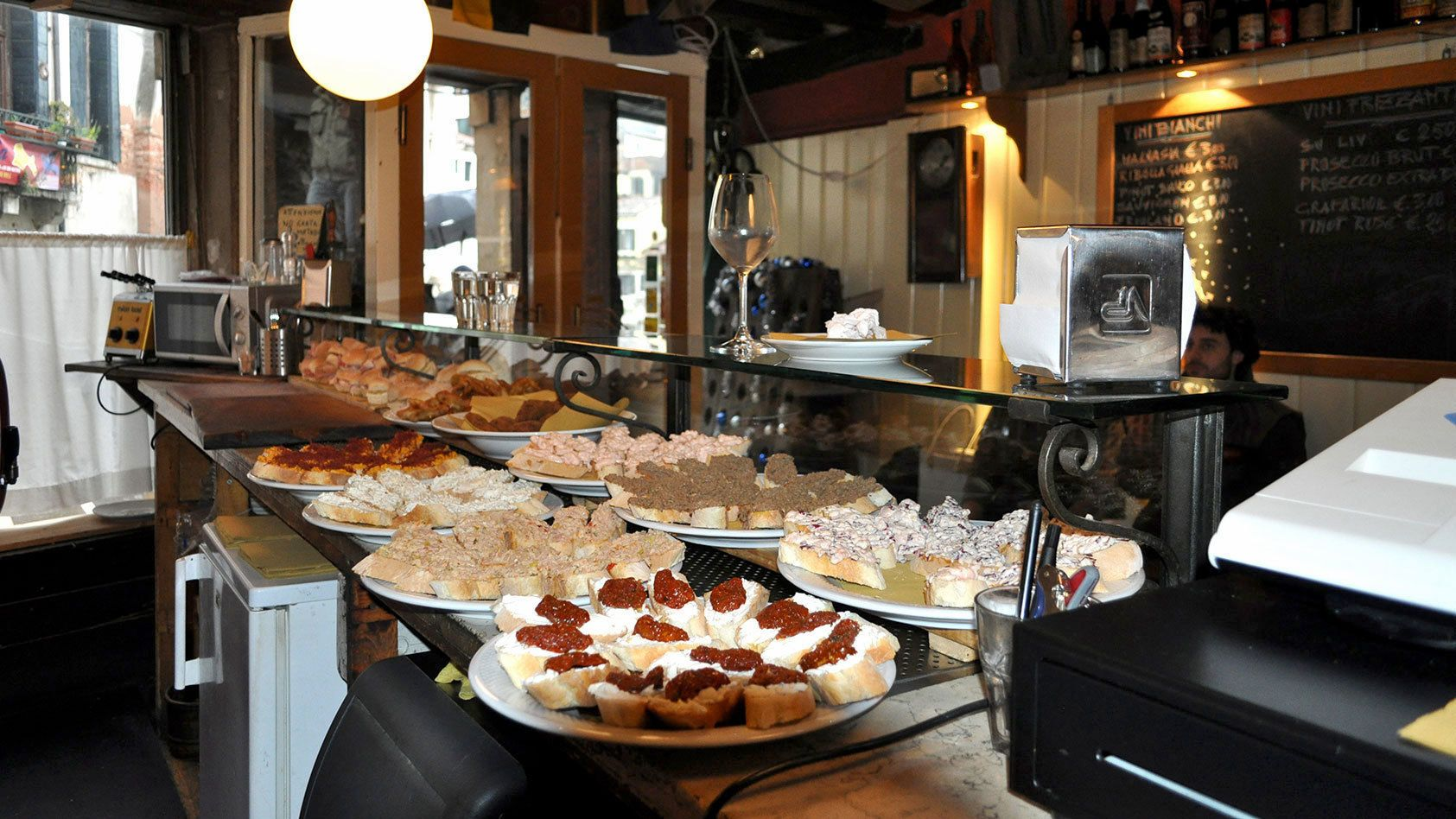Food in a restaurant in Venice Italy