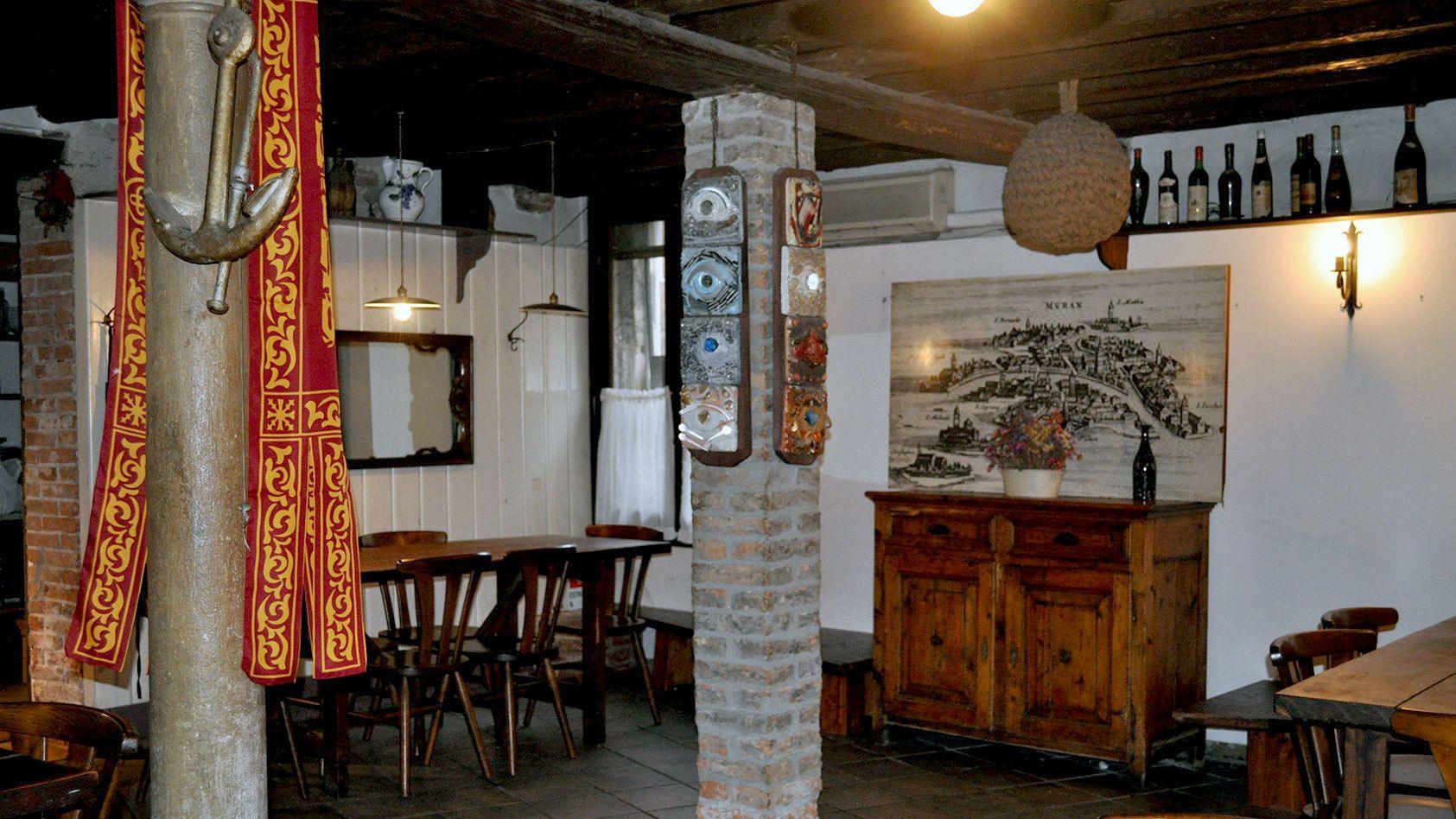 Interior of the bar in Venice