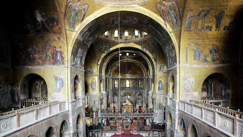 Interior of Doges Palace in Venice Italy