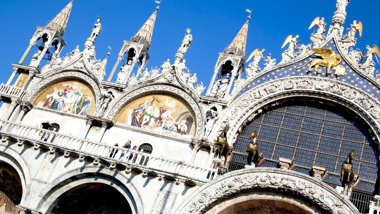 Saint Mark's Basilica Building in Venice Italy