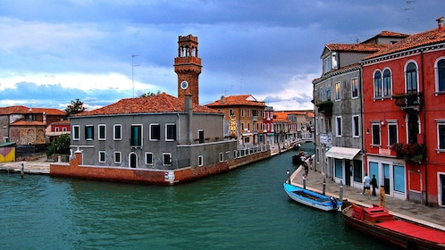 Entrance to canal in Venice Italy
