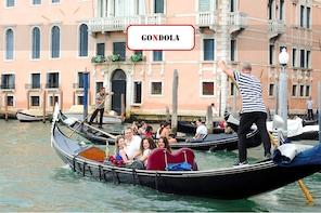 Veneza: Grande Canal de gôndola com comentários