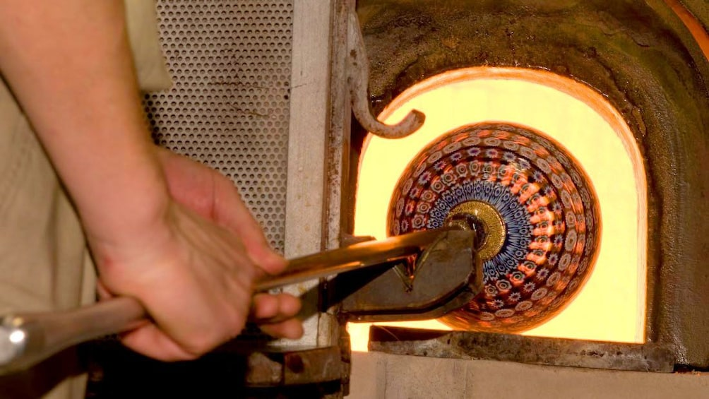 Glass heating oven on Murano Island Excursion  in Venice
