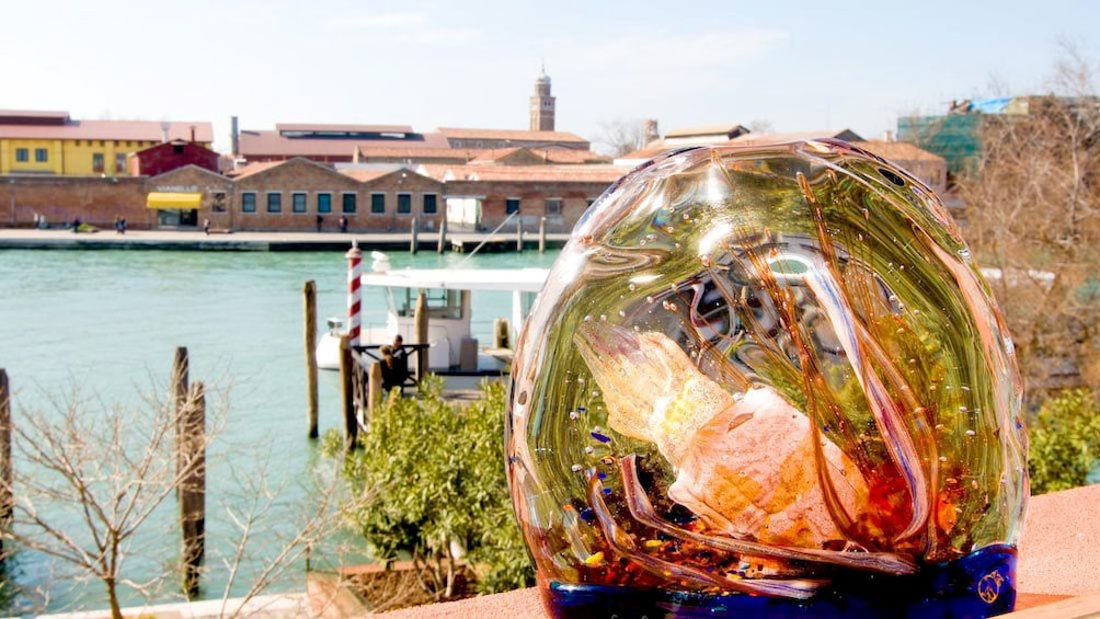 View and blown glass product on Murano Island Excursion  in Venice