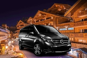 Airport Chambery - private VIP transfer to Meribel on Mercedes V-class
