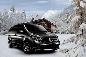 Airport Grenoble - private VIP transfer to Morzin on Mercedes V-class