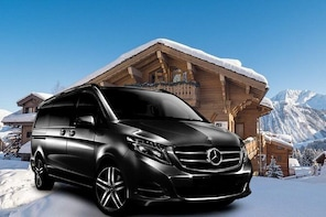 Airport Grenoble - private VIP transfer to Meribel on Mercedes V-class