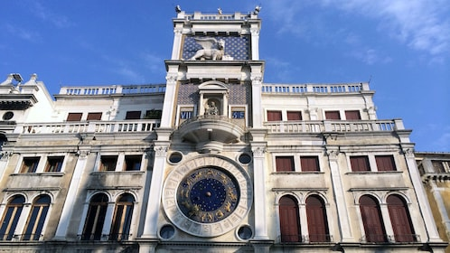 Exterior architecture on walking tour of Venice Italy